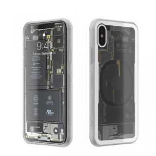 背面強化ガラスケース Eureka Translucent ホワイト iPhone X