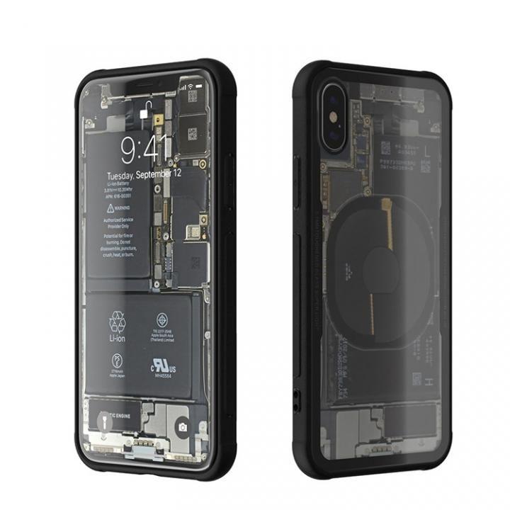 iPhone X ケース 背面強化ガラスケース Eureka Translucent ブラック iPhone X_0