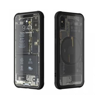 【iPhone Xケース】背面強化ガラスケース Eureka Translucent ブラック iPhone X