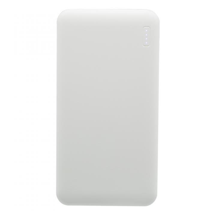 薄くて大容量5,000mAhのSmart IC搭載モバイルバッテリー ブラック_0
