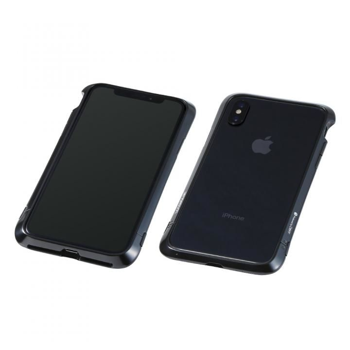iPhone XS/X ケース Deff Cleave アルミバンパー Virtue ポリッシュブラック iPhone XS/X_0