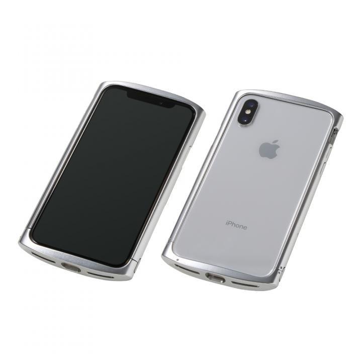iPhone XS/X ケース Deff Cleave アルミバンパー ellipse ポリッシュシルバー iPhone XS/X_0