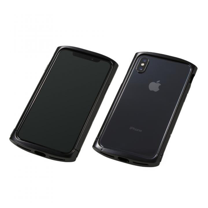 【iPhone XS/Xケース】Deff Cleave アルミバンパー ellipse ポリッシュブラック iPhone XS/X_0