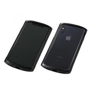 iPhone XS/X ケース Deff Cleave アルミバンパー ellipse ポリッシュブラック iPhone XS/X
