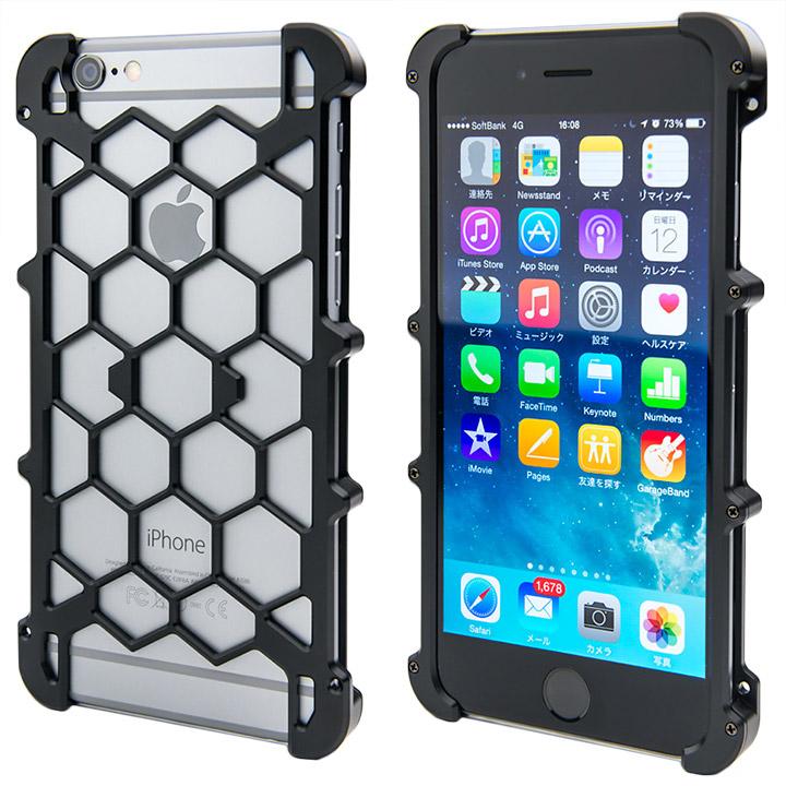 【iPhone6ケース】アルミ削り出し プロテクターケース ブラック iPhone 6s/6_0
