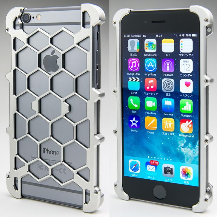 iPhone6 ケース アルミ削り出し プロテクターケース シルバー iPhone 6s/6_0