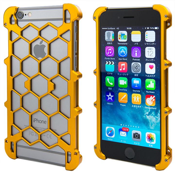 【iPhone6ケース】アルミ削り出し プロテクターケース オレンジ iPhone 6s/6_0