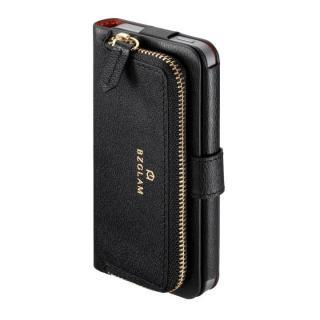 本レザーコインケース付き手帳型ケース BZGLAM ブラック iPhone 5s/5ケース
