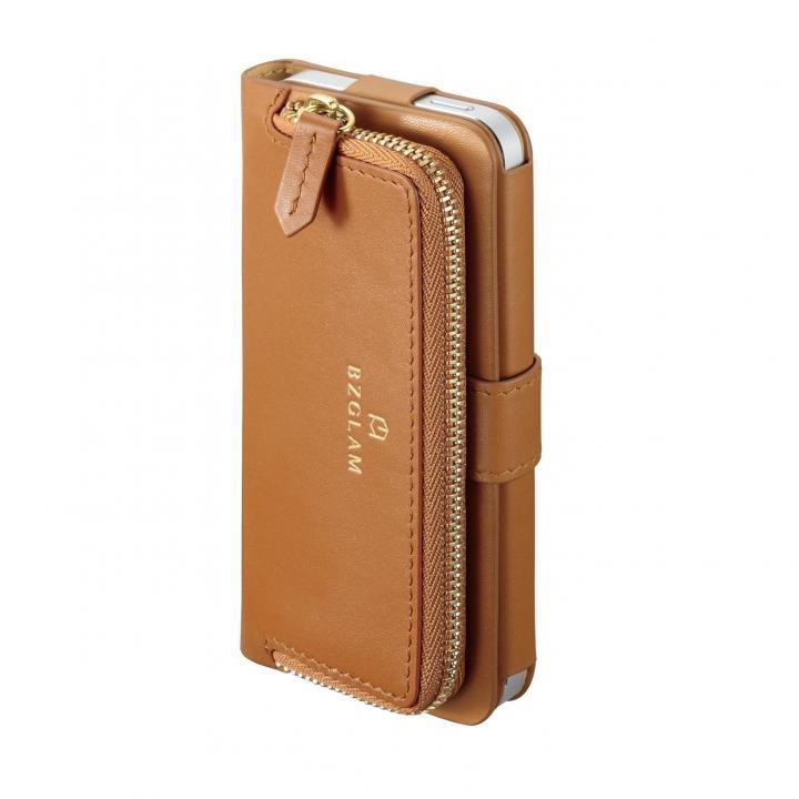 iPhone SE/5s/5 ケース 本レザーコインケース付き手帳型ケース BZGLAM キャメル iPhone 5s/5ケース_0