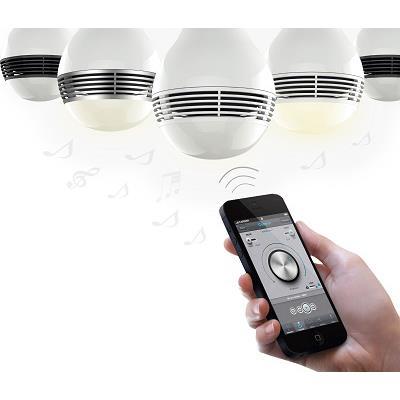 スピーカーになる電球 Bluetooth LED スピーカー ライト PLAYBULB