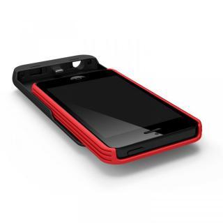 【iPhone SE/5s/5ケース】[2500mAh]9mm極薄 バッテリー内蔵ケース レッド iPhone SE/5s/5ケース