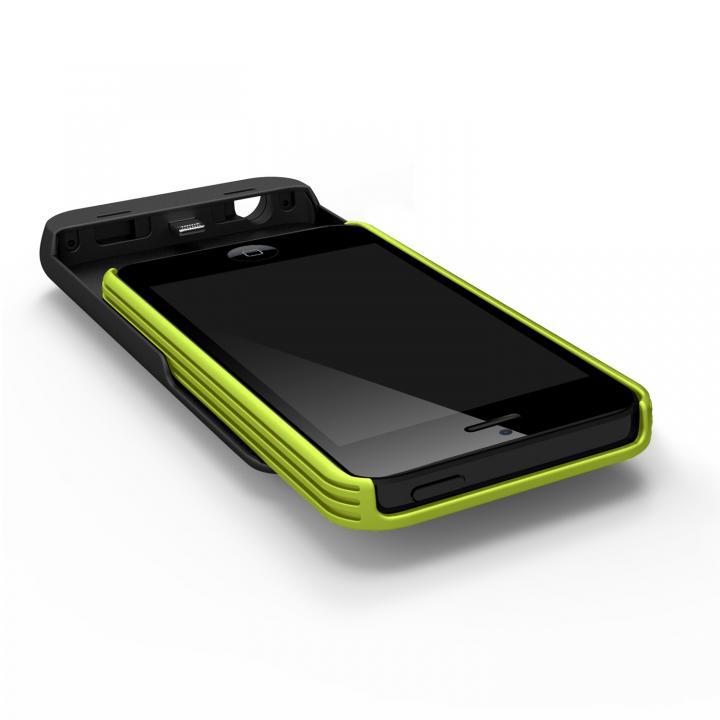 iPhone SE/5s/5 ケース [2500mAh]9mm極薄 バッテリー内蔵ケース グリーン iPhone SE/5s/5ケース_0