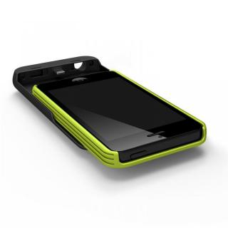 【iPhone SE/5s/5ケース】[2500mAh]9mm極薄 バッテリー内蔵ケース グリーン iPhone SE/5s/5ケース