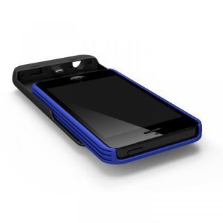 【iPhone SE/5s/5ケース】[2500mAh]9mm極薄 バッテリー内蔵ケース ブルー iPhone SE/5s/5ケース