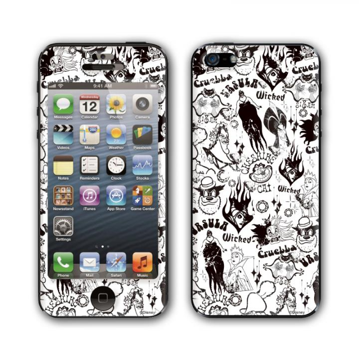 Gizmobies スキンシール KURO VILLAINS MONO iPhone SE/5s/5スキンシール