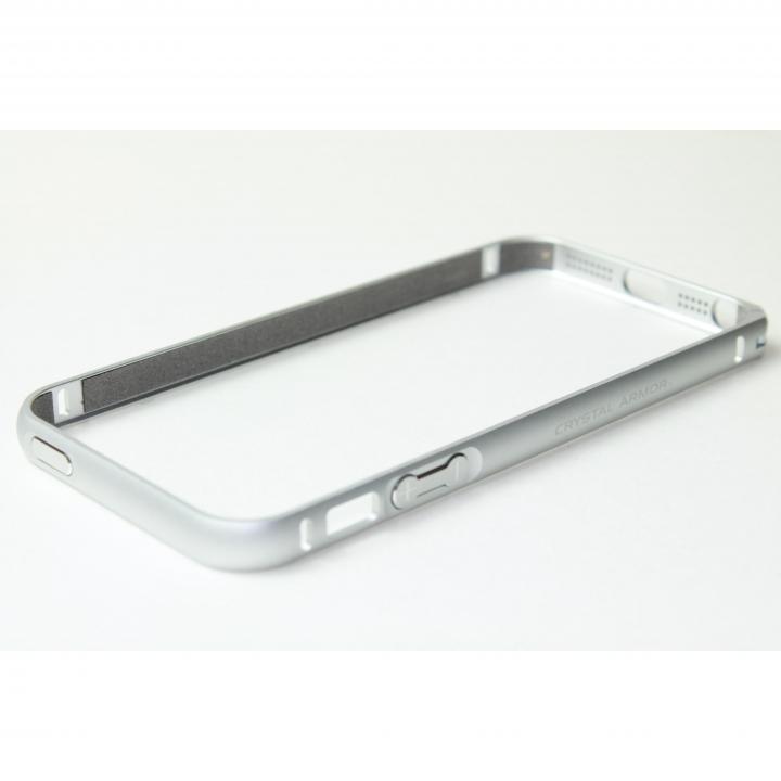iPhone SE/5s/5 ケース クリスタルアーマー(R) メタルバンパー プレーンシルバー iPhone SE/5s/5バンパー_0