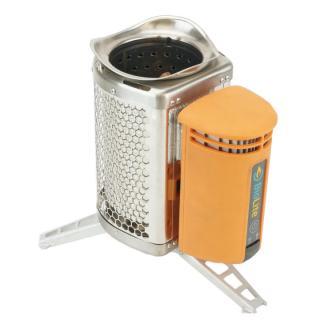 たき火の熱を電気に変換 BioLite キャンプストーブ(POTアダプター付き)