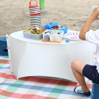 折りたたみテーブル PATATTO TABLE ペールホワイト×ペールホワイト