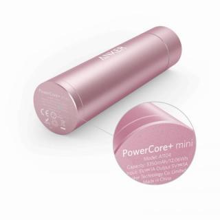 [3350mAh]Anker PowerCore+ mini スティック型モバイルバッテリー ピンク【7月下旬】