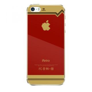 【iPhone SE/5s/5フィルム】[0.4mm]レトロゲーム機風デザイン 液晶保護強化ガラス iPhone5s/5_2