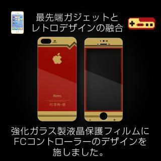 【iPhone SE/5s/5フィルム】[0.4mm]レトロゲーム機風デザイン 液晶保護強化ガラス iPhone5s/5_4