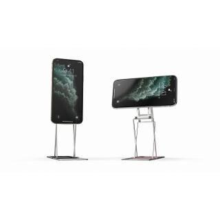 Majextand M 人間工学に基づくスマートフォン/タブレット用スタンド シルバー