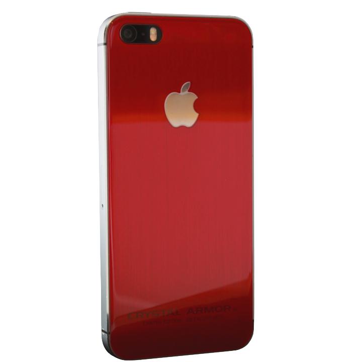 クリスタルアーマー 強化ガラス バックプロテクター Limited Edition レッド iPhone 5s/5