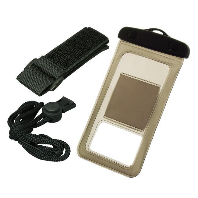 【iPhone6/6 Plusケース】バウト アームバンド付き 防水ケース ブラウン 多機種対応(iPhone/Android)_0