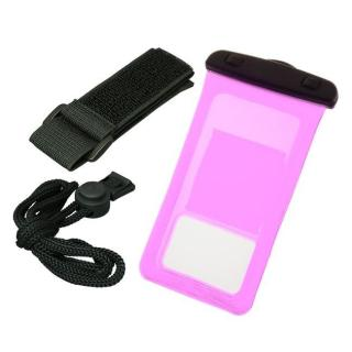 バウト アームバンド付き 防水ケース ピンク 多機種対応(iPhone/Android)