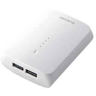 [7800mAh]急速充電対応モバイルバッテリー 2ポート 3.4A ホワイト