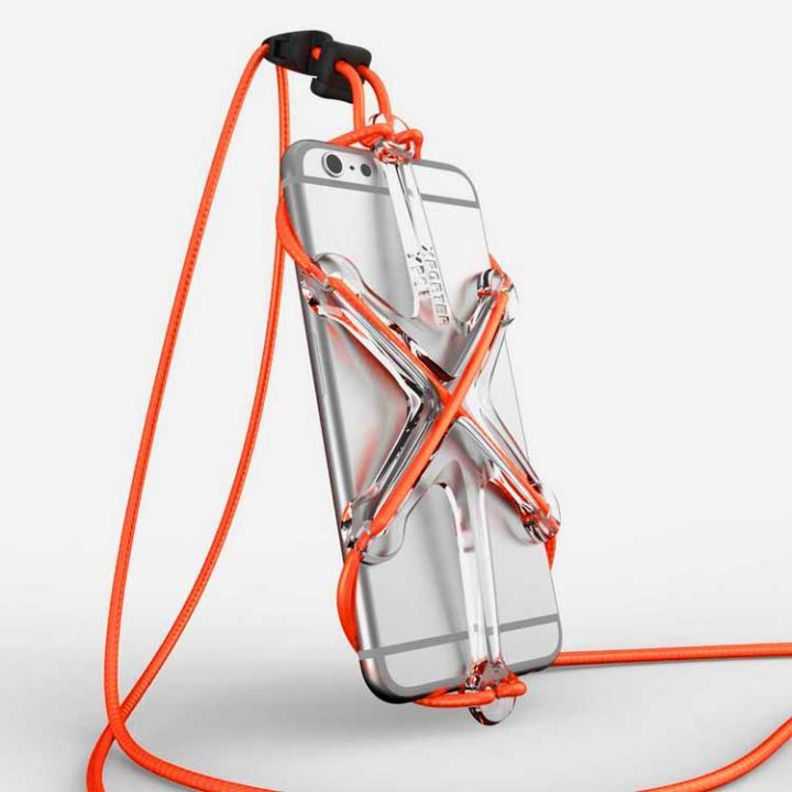 iPhone6/6 Plus ケース XPORTER NEO ストラップ・ホルダー iPhone 6/6 Plus & スマートフォン クリア&オレンジ_0