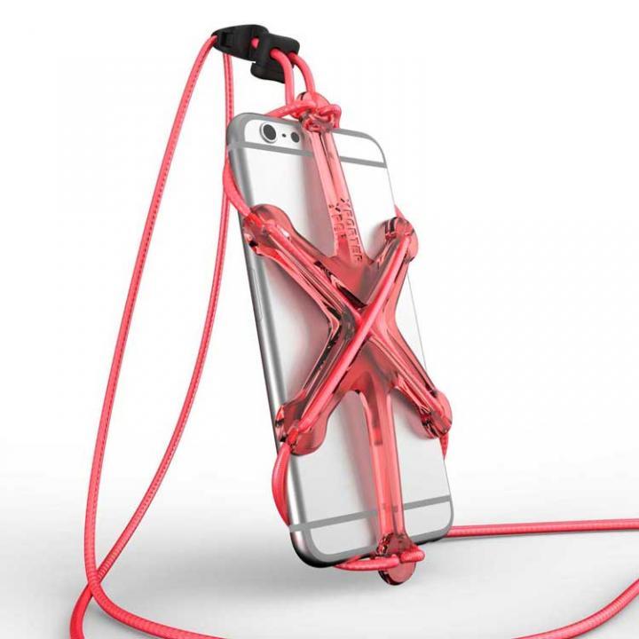 iPhone6/6 Plus ケース XPORTER NEO ストラップ・ホルダー iPhone 6/6 Plus & スマートフォン レッド&ピンク_0