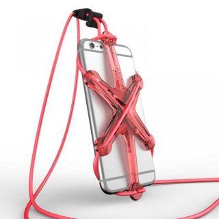 XPORTER NEO ストラップ・ホルダー iPhone 6/6 Plus & スマートフォン レッド&ピンク