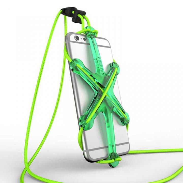 iPhone6/6 Plus ケース XPORTER NEO ストラップ・ホルダー iPhone 6/6 Plus & スマートフォン グリーン&ライム_0