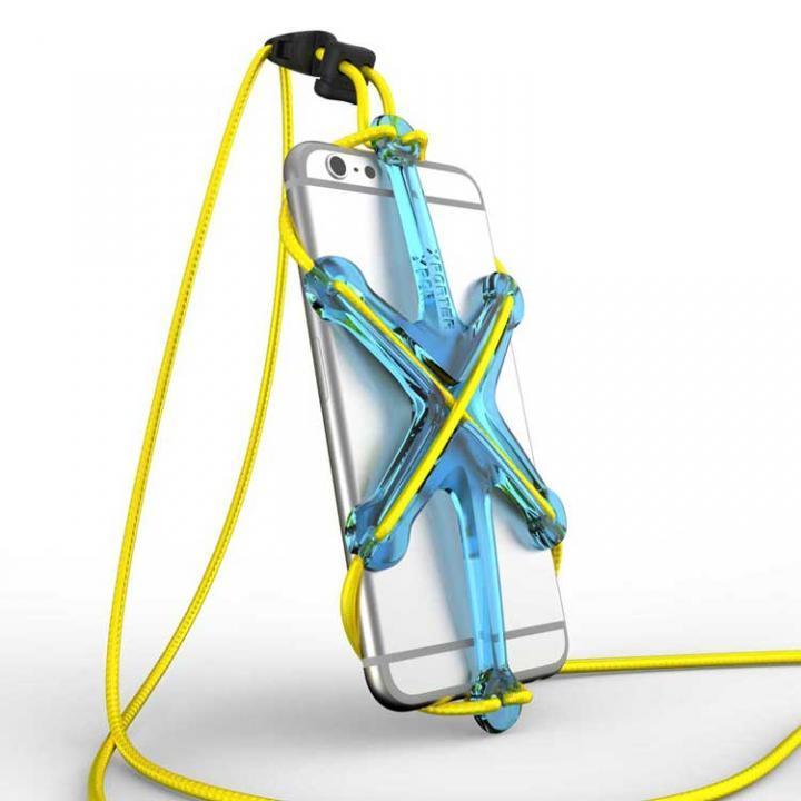 iPhone6/6 Plus ケース XPORTER NEO ストラップ・ホルダー iPhone 6/6 Plus & スマートフォン ブルー&イエロー_0