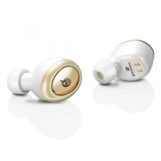 M-SOUNDS 完全ワイヤレスイヤホン ホワイト/ゴールド