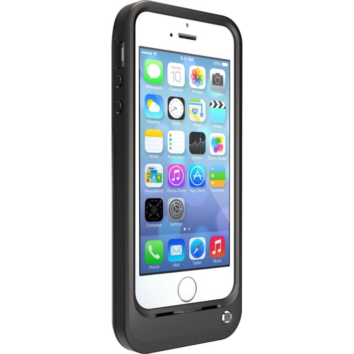 OtterBox Resurgence 耐落下バッテリー内蔵ケース ブラック/ブラック iPhone SE/5s/5ケース