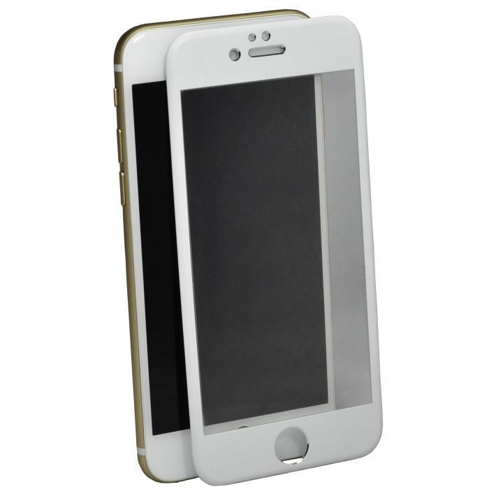 iPhone6 Plus フィルム アルミフレーム液晶保護強化ガラスフィルム ホワイト iPhone 6 Plus_0