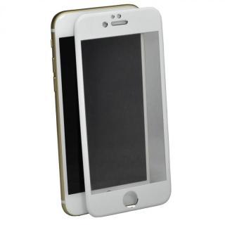 iPhone6 Plus フィルム アルミフレーム液晶保護強化ガラスフィルム ホワイト iPhone 6 Plus