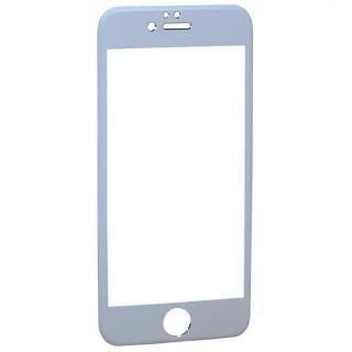【iPhone6フィルム】アルミフレーム液晶保護強化ガラスフィルム ホワイト iPhone 6_1