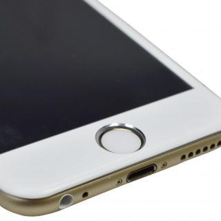 【iPhone6フィルム】アルミフレーム液晶保護強化ガラスフィルム ホワイト iPhone 6_2