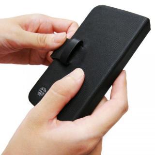 【iPhone SE/5s/5ケース】左利きの方におすすめ! 右開き 本革手帳型ケース ローテーティングフォリオ ブラック iPhone SE/5s/5ケース_4