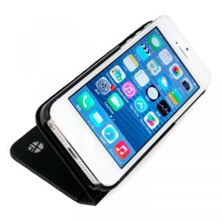 【iPhone SE/5s/5ケース】左利きの方におすすめ! 右開き 本革手帳型ケース ローテーティングフォリオ ブラック iPhone SE/5s/5ケース_6
