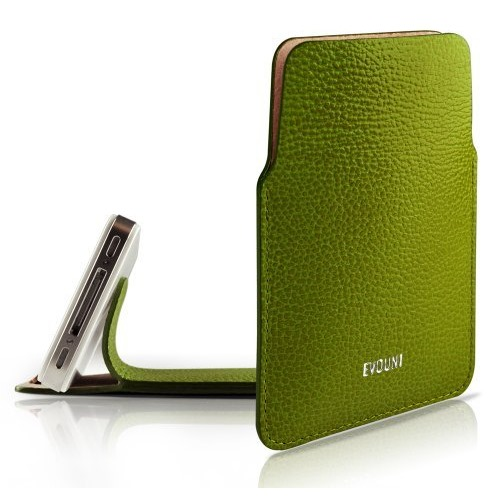 Leather Stand Pouch_iPhone_Green