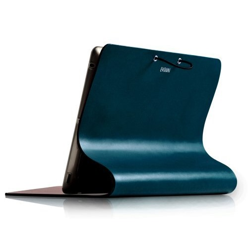 Leather Arc Cover_ iPad2/ 3/ 4_Blue_0