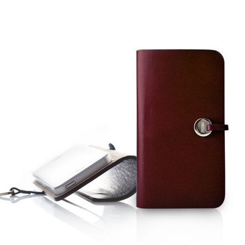 Leather Arc Cover_iPhone5_Claret