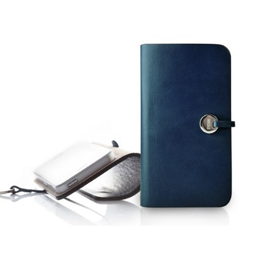 Leather Arc Cover_iPhone5_Blue