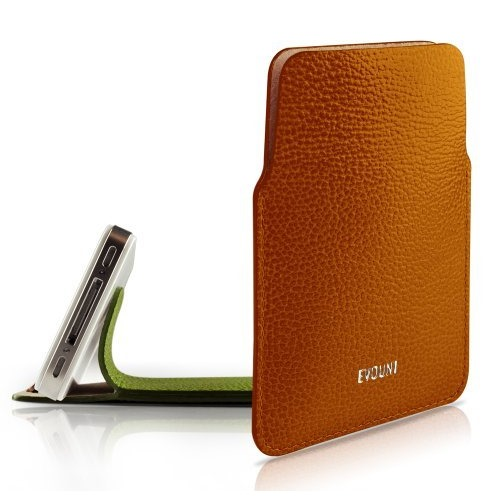 Leather Stand Pouch_iPhone_Orange