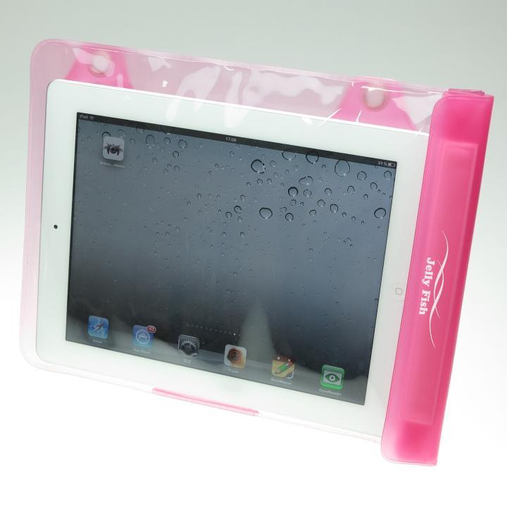 タブレットPC用防滴バッグJelly Fish XL Light ピンク