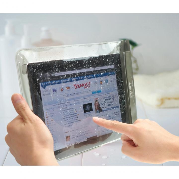 タブレット対応 XLサイズの防水ポーチ